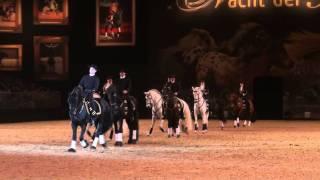 """Pferd & Jagd 2011 """"Nacht der Pferde""""   Quadrille Barock on Tour"""
