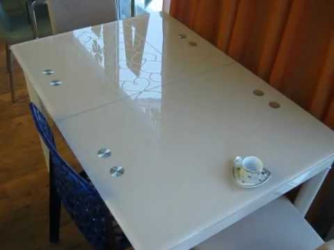 www.ctol.com.ua - Раскладной стеклянный стол (С405)