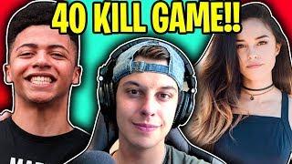 40 KILL SQUADS ft. TSM_Myth, Valkyrae, Asivrs. (Fortnite Battle Royale 40 Kill Squads Gameplay)