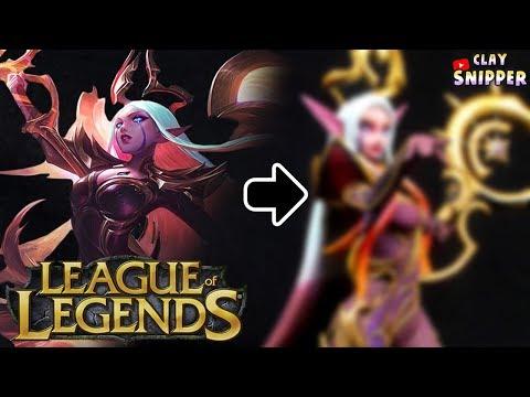 "League of Legends "" Nightbringer Soraka "" Clay art tutorial!"
