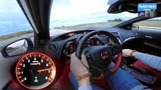 2016 Civic Type R (310hp) - 0-270 Km/h Acceleration (60FPS)