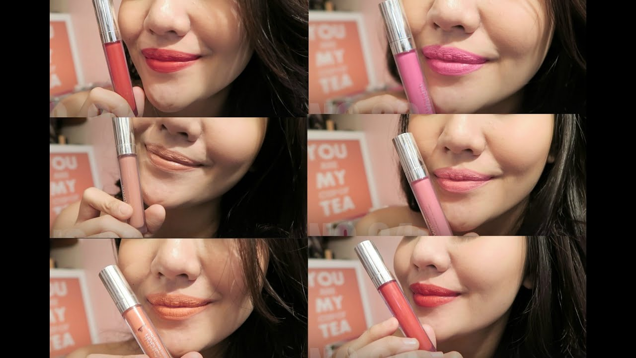 SWATCHES Amp REVIEW WARDAH EXCLUSIVE MATTE LIP CREAM 2016