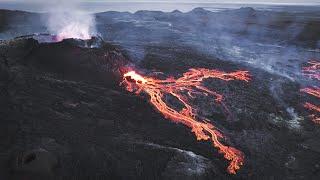 The Volcano Awakens -  Fagradalsfjall, Sep 11 2021 - 4K with Audio