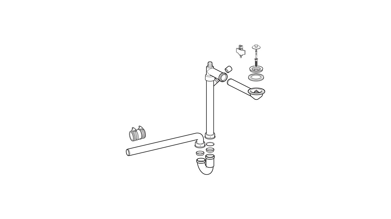 how to assemble ikea water trap in north america