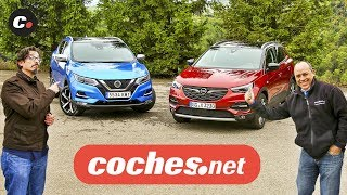 Nissan Qashqai vs Opel Grandland X 2019 SUV | Prueba Comparativa / Test / Review | coches.net