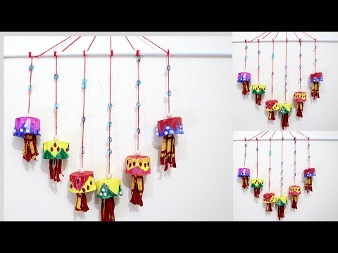 How to make Wall Hanging from waste Plsatic Cups | creative use of waste plastic cups | Recycled DIY
