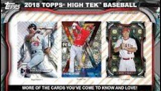 11/08/18 - eBay - 9 PM CDT - 2018 Topps High Tek Baseball 1/2 Case Break