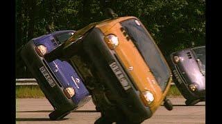 1993 Renault Twingo two-wheel driving stunt