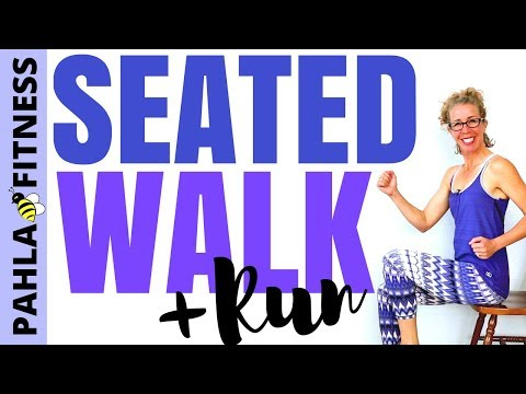SEATED WALK | 25 Minute Walking + Running Workout | How to Deal with Running INJURIES