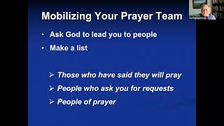 The Importance of building a prayer team and an APEST Team. Dr. Dan Remo
