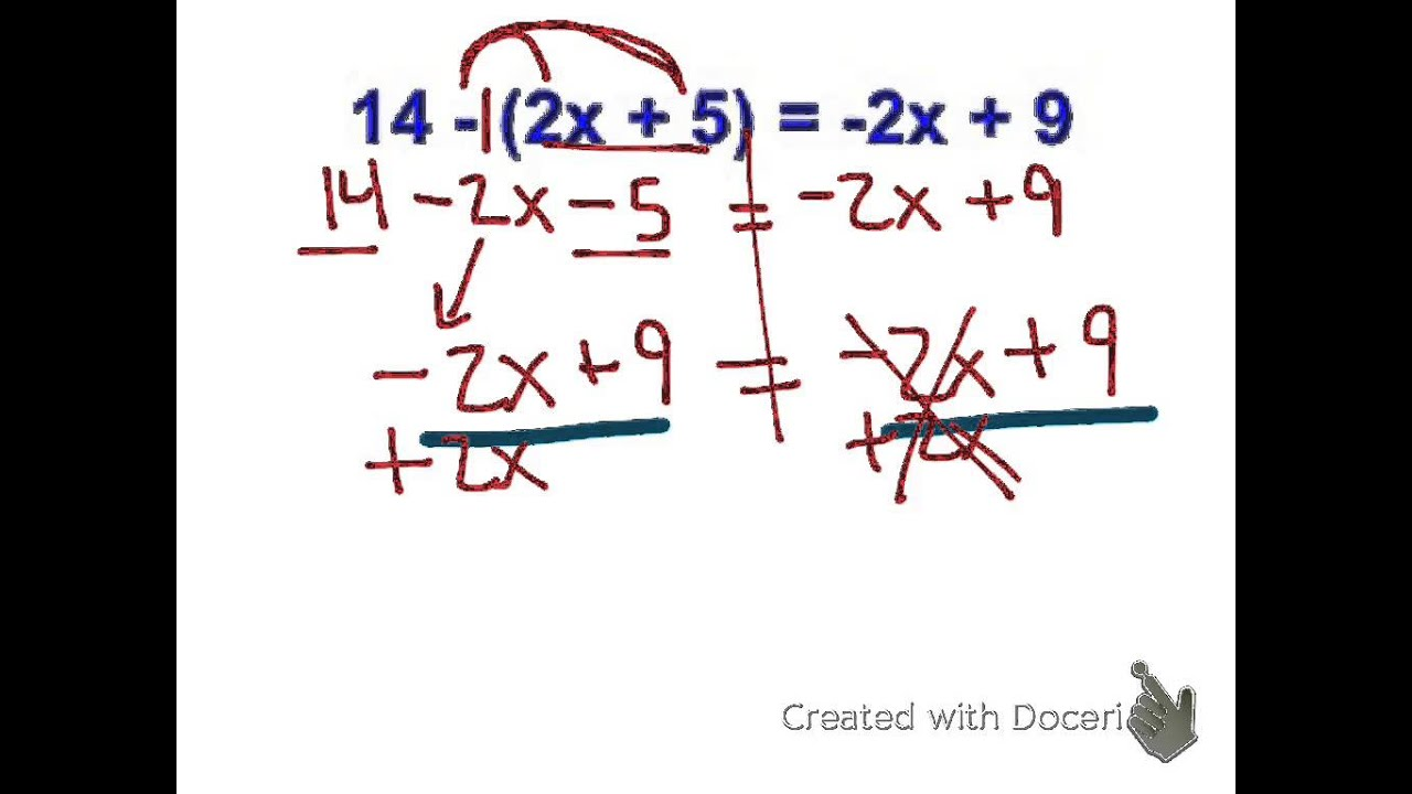 How To Solve Multi Step Equations With Two Variables On One Side