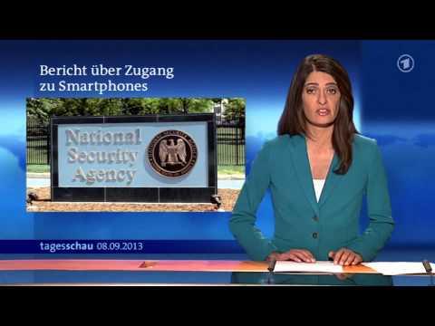 ARD Tageschau  Abhörskandal  NSA überwacht auch Smartphones  8.9.2013