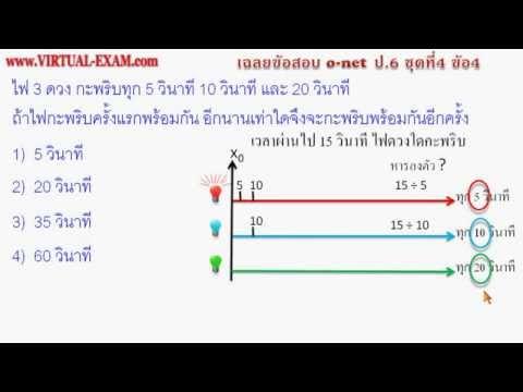 เฉลยข้อสอบคณิตศาสตร์ O-NET ป.6 ชุดที่ 4 ข้อ 4