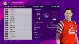 eFootball PES - PS4 - 2020 REAL MADRID 1997/98