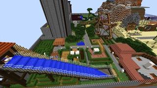 Ein detaillierter Redstone Freizeitpark! - Minecraft Map
