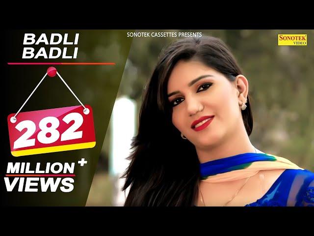 Haryanvi Hot Bomb Sapna Choudhary's Famous Song Badli Badli