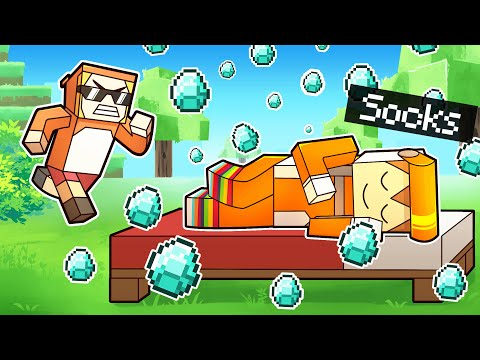 minecraft manhunt but BEDS ARE OVERPOWERED (custom)