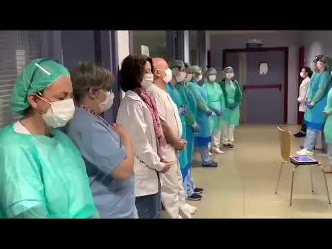 Video - https://youtu.be/gi0xMBz-Gvs         स्पेन में कोरॉना मुक्ति हेतु ओउम् का जाप