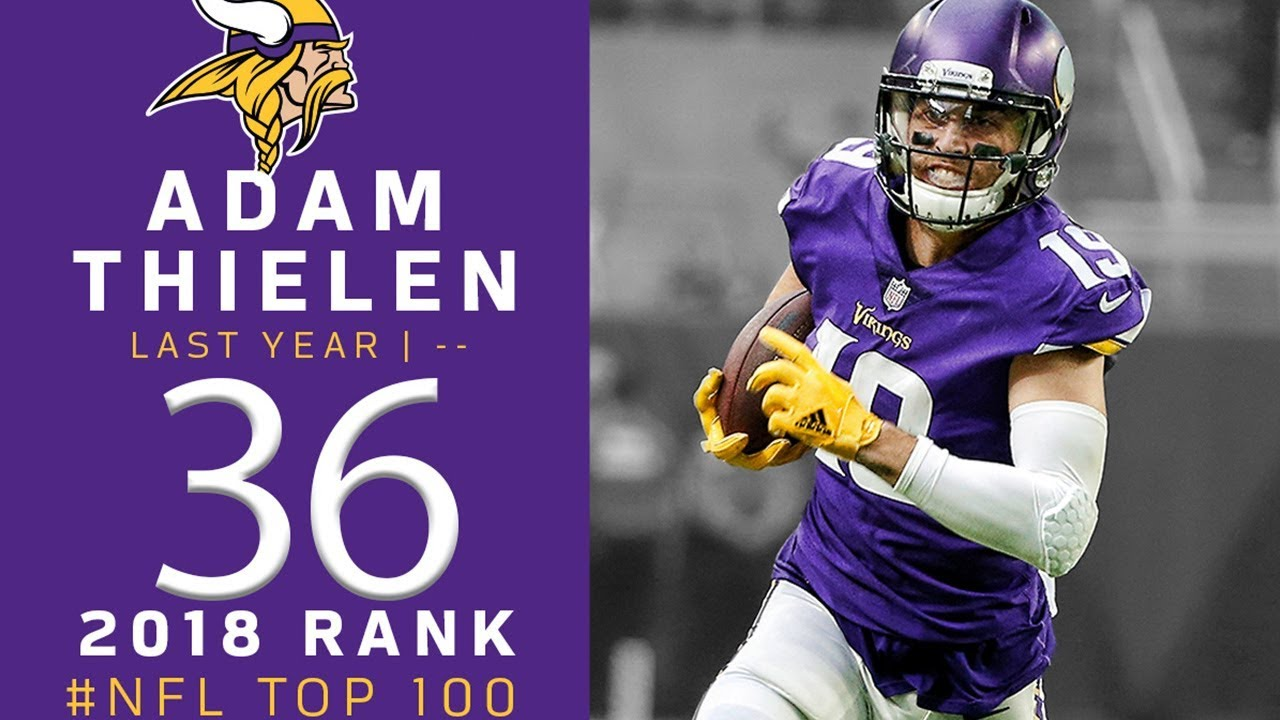 online store 9faa8 8eb35 #36: Adam Thielen (WR, Vikings) | Top 100 Players of 2018 | NFL