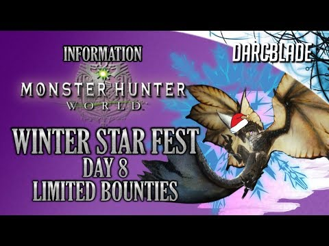 Day 8 Limited Bounties : Monster Hunter World thumbnail