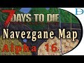 Map of Navezgane A16 ☠️ 7 Days To Die Alpha 16