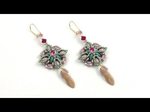 "Beading4perfectionists: ""Oceanic bloom"" earrings beading tutorial"