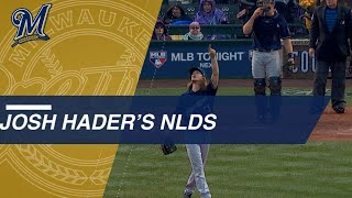 Josh Hader helps lead Brewers to NLCS