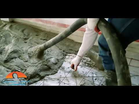 Fiberglass Pool Repair & Fresh Concrete | Indoor Fiberglass Pool