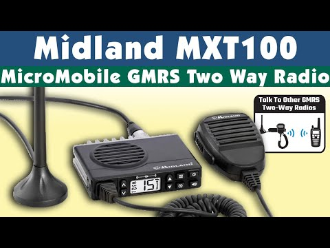 Midland MXT100 Micro Mobile Two Way Radio Preview