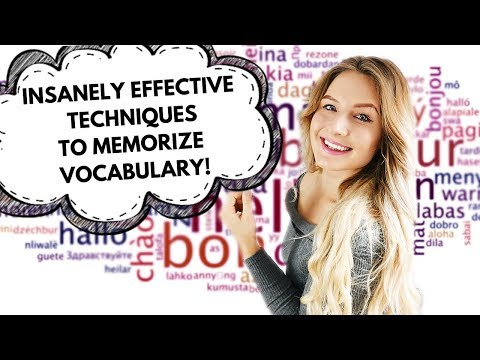 INSANELY EFFECTIVE TECHNIQUES FOR MEMORIZING VOCABULARY