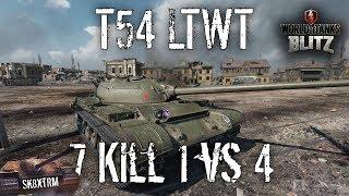 T54 ltwt - 7 Kill 1 vs 4 - Wot Blitz