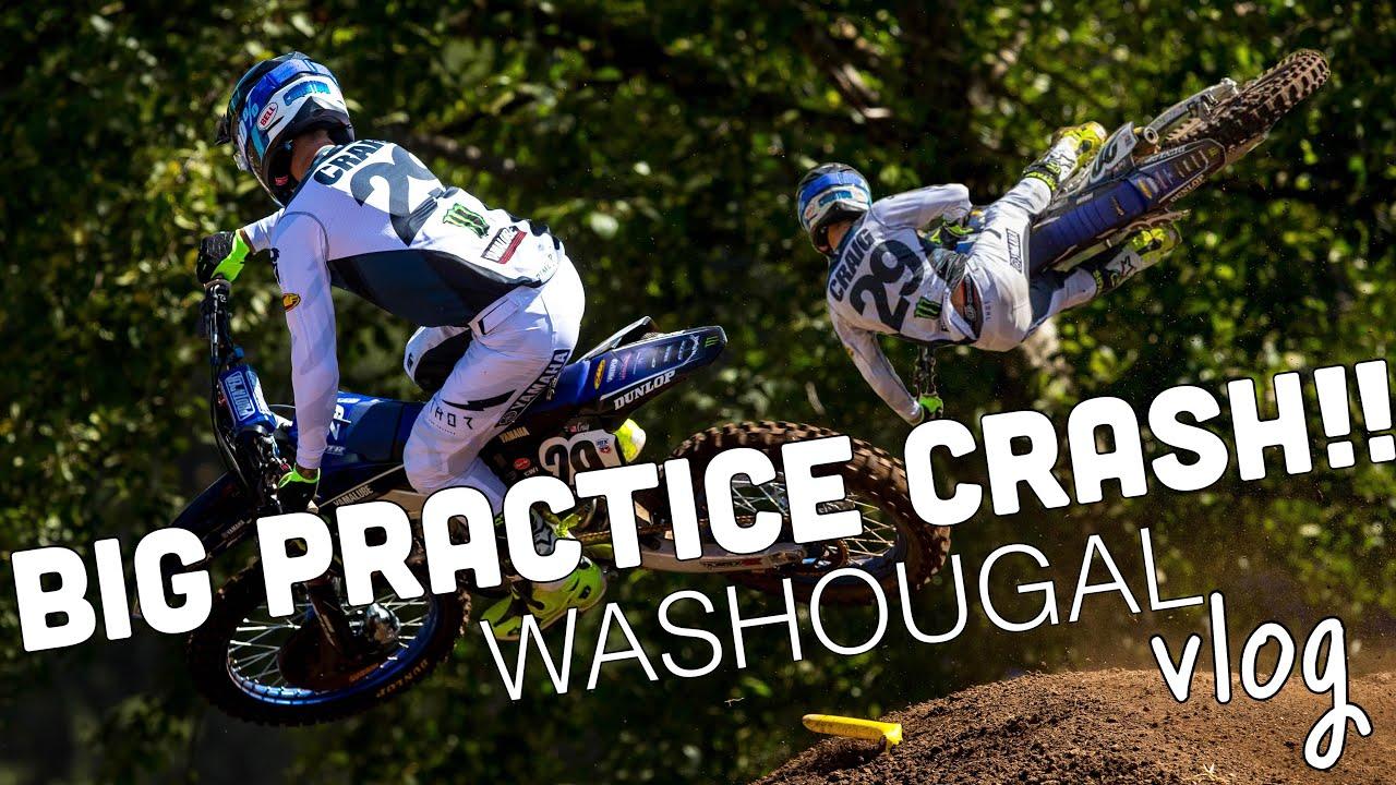 BIG CRASH AT WASHOUGAL | Christian Craig Pro Motocross Race Day Vlog 2021 Round Seven