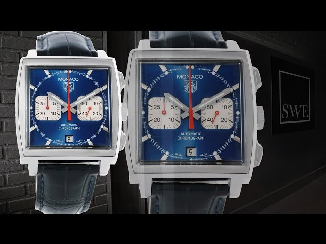 Tag Heuer Monaco Blue Dial Automatic Chronograph Mens Watch CW2113 | SwissWatchExpo