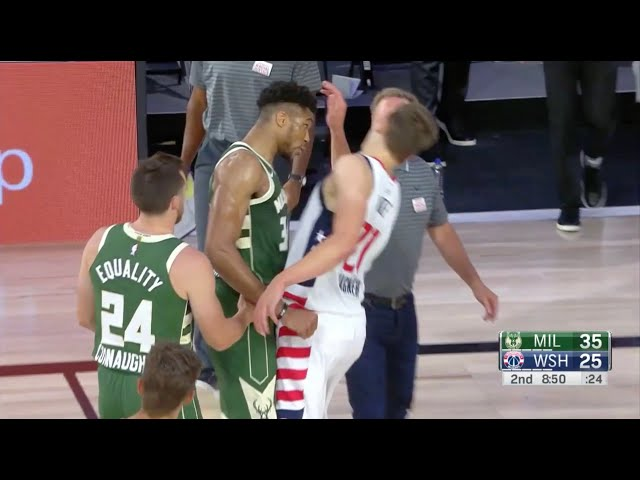 Giannis Gets Ejected After Headbutting Mo Wagner