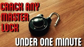 How To Crack ANY Master Lock Combination | Under One Minute