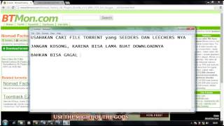CARA MUDAH DOWNLOAD FILE TORRENT DENGAN IDM