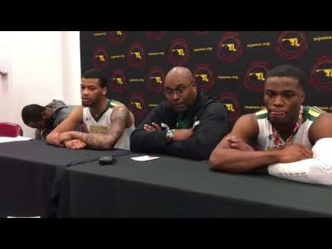 Milford Mill boys basketball press conference 03/10/18