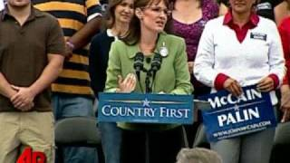 Palin Criticizes Obama's 'Terrorist' Connection