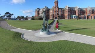 Footage of the exterior and grounds beautiful slieve donard resort spa in newcastle county down. filmed by chris mccann