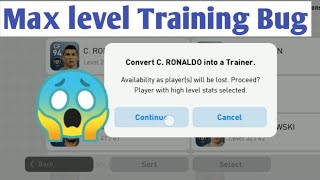 How to train Max level your player Trick konami Bug pes 2019 mobile