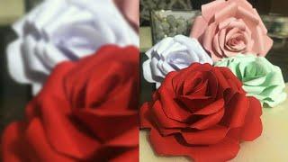 Papier-Rosen-tutorial | Origami rose | Papier Blume | Papier Handwerk || Erstellen n Kunst