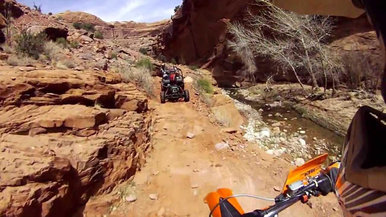 kane creek canyon dirt bike trail moab utah youtube. Black Bedroom Furniture Sets. Home Design Ideas