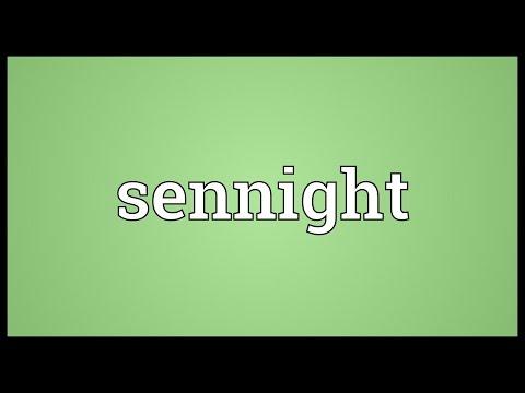 Header of sennight