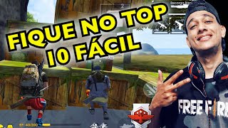 COMO FICAR NO TOP 10 FACIL NA RANQUEADA DO FREE FIRE E SAIR DO PLATINA!