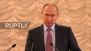 Russia  Putin calls for increase in confidence of courts at All Russian Congress of Judges