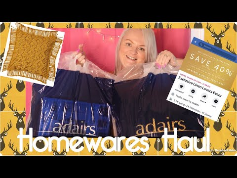 Adair's- New Homewares Haul- From The Latest Linen Lovers Sale 40% OFF