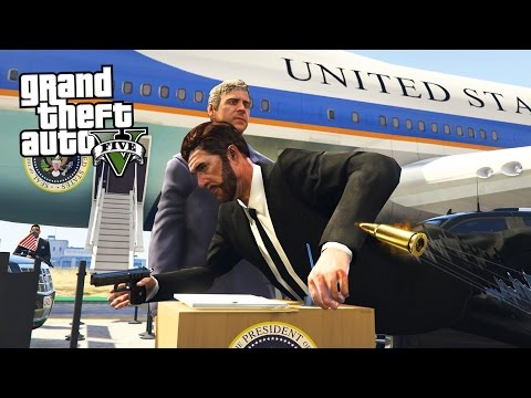 SAVING THE PRESIDENT!! (GTA 5 Mods)