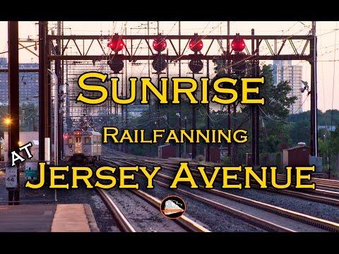 Sunrise Railfanning at Jersey Avenue