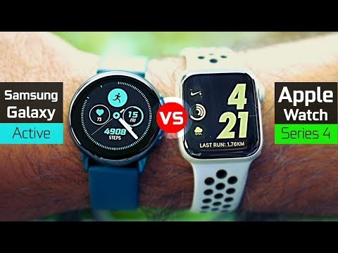 Samsung Galaxy Watch Active Vs Apple Watch Series 4 Nike +