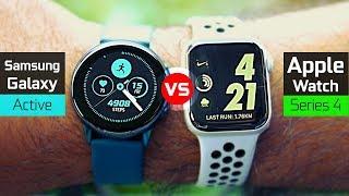 Samsung Galaxy Watch Active vs Apple Watch Series 4 Nike +